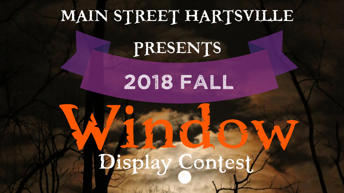 Main Street Hartsville presents 2018 Fall Window Contest Banner