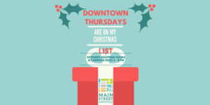 Extended Shopping and Free Carraige Rides Every Thursday though Dec 21