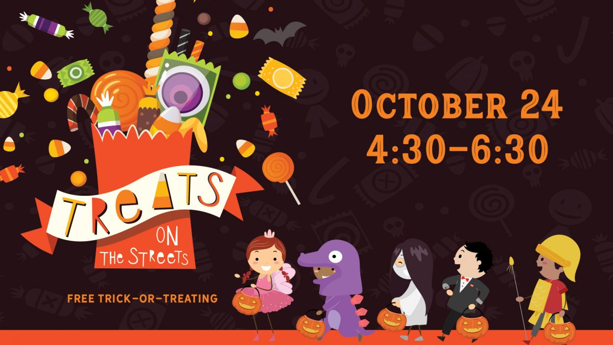TOTS banner image with illustration of costumed children trick-or-treating.