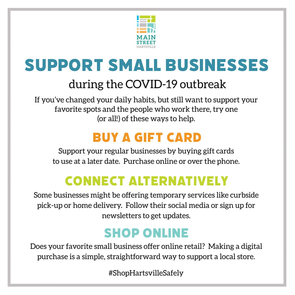 Support Small Businesses infographic